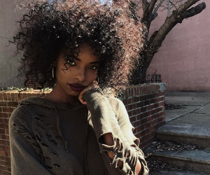 African, beautiful, and curly image