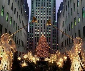 angels, christmas, and christmas tree image