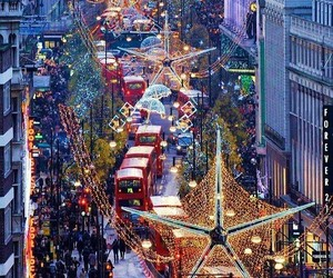 christmas, london, and light image