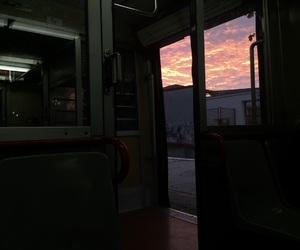 beautiful, sunset, and orange image