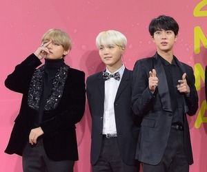 bts, jin, and mma image