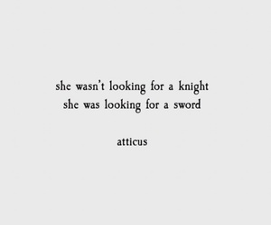 quotes, sword, and knight image