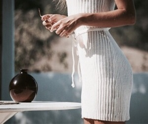 body, dress, and nails image