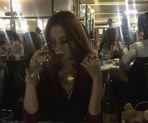 beautiful, girl, and wine image