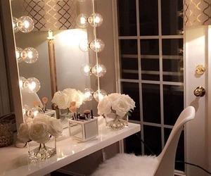 room, makeup, and home image