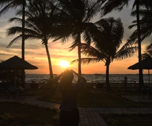 indonesia, sunset, and indonesian's girl image