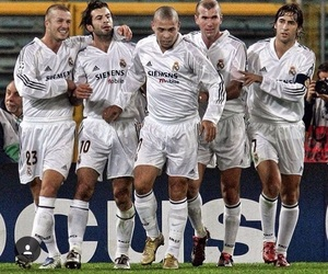 beckham, real madrid, and raul image