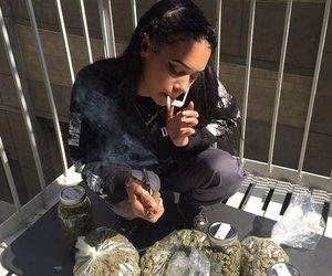 girl, weed, and tumblr image