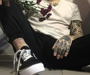 tattoo, grunge, and boy image