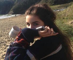 girl, coffee, and love image