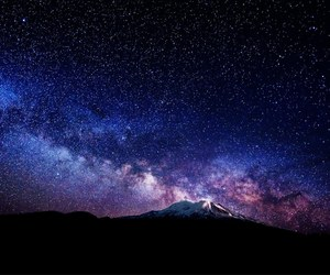 stars, beautiful, and mountains image