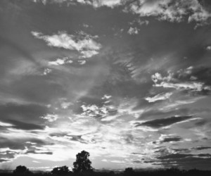 black and white, photography, and sky image