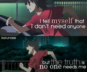 alone, pain, and animeboy image