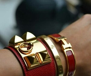 fashion, bracelet, and red image