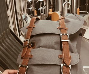 backpack, traveling, and traveler image