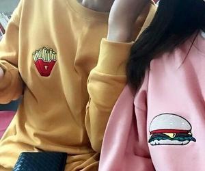 pink, grunge, and yellow image