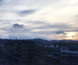 облака, небо, and природа image