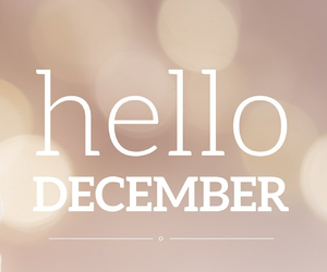 !, december, and hello image