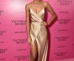 dress, pink carpet, and fashion show image