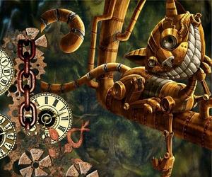 steampunk cat image