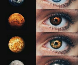 eyes, planet, and beauty image
