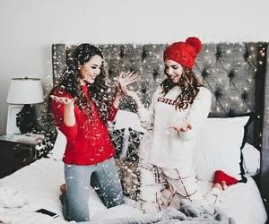 christmas, bff, and cozy image