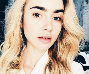 lily collins, blonde, and beauty image