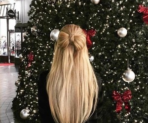 christmas, girl, and hair image