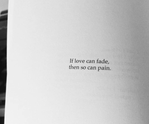 love, pain, and book image
