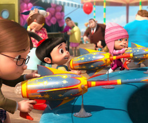despicable me, agnes, and minions image