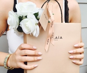 flowers, fashion, and nails image