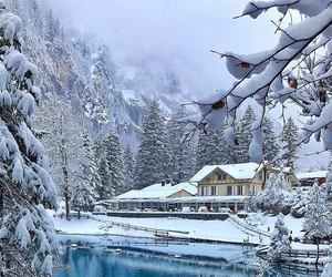 lake, snow, and winter image