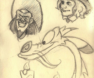 disney, drawing, and sketch image