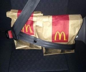 food, McDonalds, and car image