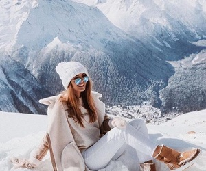 girl, winter, and snow image