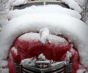 winter, snow, and car image