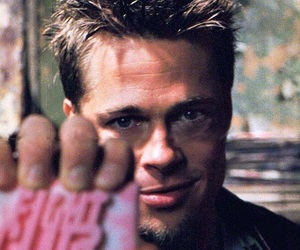 fight club and brad pitt image