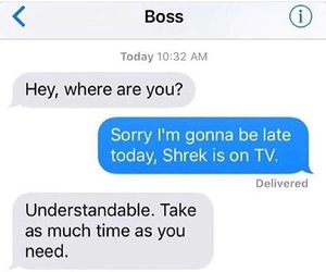 absent, boss, and funny image