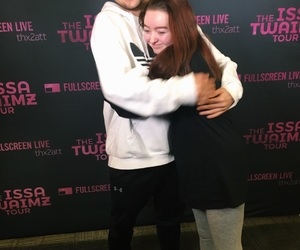 fans, hug, and ): image