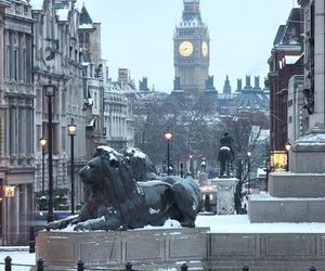 london, winter, and snow image