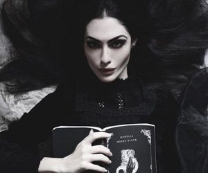 black, gothic, and book image