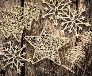 christmas, star, and gold image