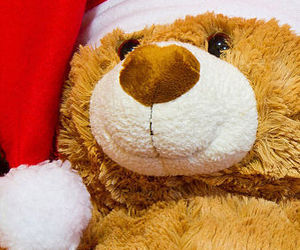 christmas, santa, and teddy bear image
