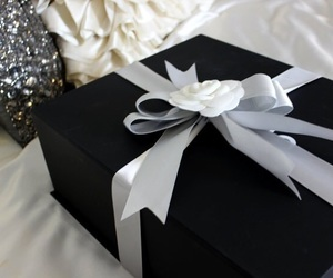 gift, present, and white image