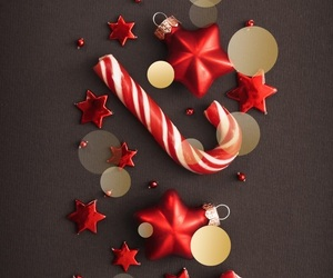 background, christmas, and candy cane image