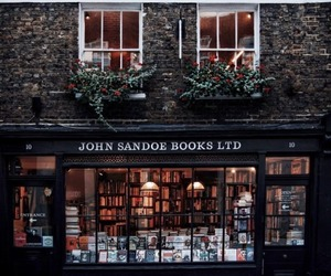 shop, book, and winter image