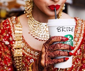 arabic, bollywood, and bride image