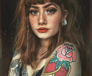 beautiful, girl, and tattoo image