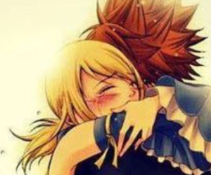 anime, couple, and fairy tail image
