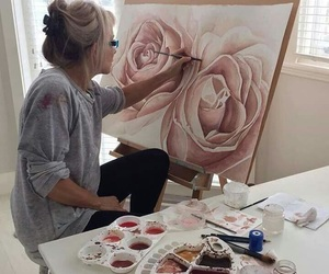 pink, art, and rose image